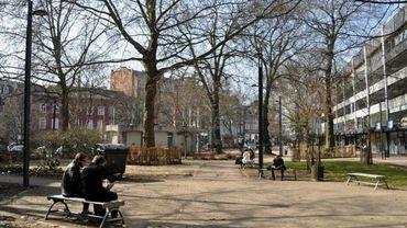 Le parc Léopold près de la gare de Namur