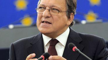 Le président de la Commission José Manuel Barroso devant le Parlement européen à Strasbourg