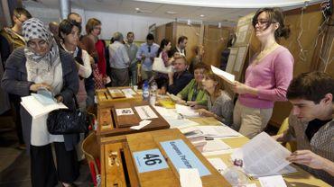 À Puurs, lors des élections du 25 mai 2014.