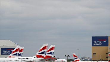 Des avions de la compagnie British Airwzys à l'aéroport de Londres, le 8 juin 2020