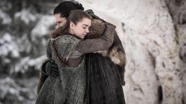 Arya Stark (Maisie Williams) et Jon Snow (Kit Harrigton)