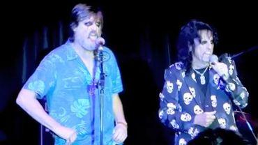 Alice Cooper et Jim Carrey sur scène