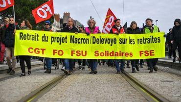 Manifestation contre la réforme des retraites, le 11 janvier 2020 à Nantes (Loire-Atlantique)