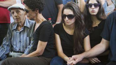 La famille des victimes de l'attentat du musée juif à Bruxelles.