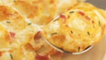 Recette de Candice : Gratin de pommes de terre au chèvre et au noix