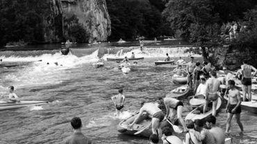 En 1966, déjà les amoureux du kayak se retrouvaient sur la Lesse