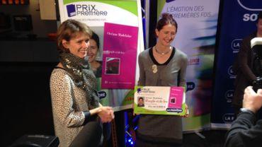Corinne Boulangier remet le Prix Première à Océane Madelaine