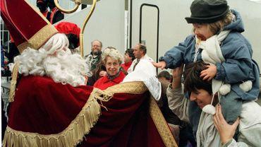 "Saint-Nicolas au ""Toy Fair"" au Heysel (Bruxelles) en 1997."