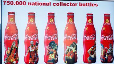 """Bouteilles de Coca-Cola """"Diables Rouges"""" à l'occasion de la Coupe du Monde de football de 2014 au Brésil"""