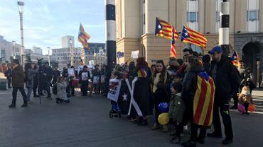 Manifestation devant la gare Centrale à Bruxelles