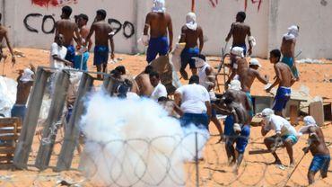 Affrontements entre gangs rivaux dans la prison d'Alcacuz, près de Natal, le 19 janvier 2017