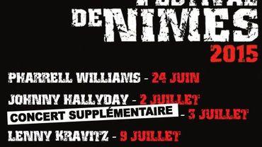 Le Festival de Nîmes 2015 se tiendra du 24 juin au 26 juillet