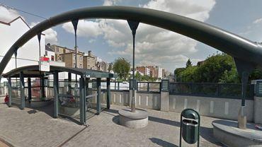 L'actuel arrêt de tram sur le pont du Germoir