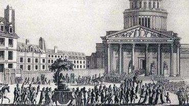 11 octobre 1794, transfert de Jacques Rousseau au Panthéon