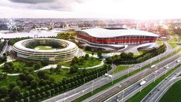 L'Eurostadium : une arène de 60 000 places qui n'existe encore que sur maquette.