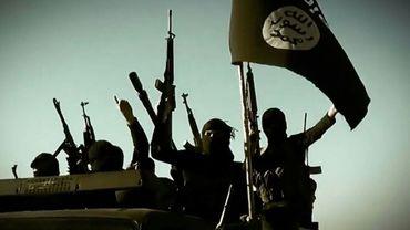 Capture d'écran d'une vidéo de propagande du groupe Etat islamique (EI) montrant des jihadistes dans un lieu non précisé de la province d'Al-Anbar, le 17 mars 2014 en Irak