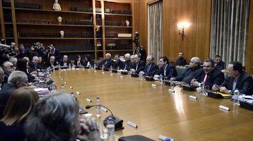 Vue générale du premier conseil des ministres grec le 28 janvier 2015 à Athènes