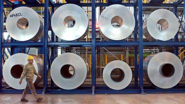 Des rouleaux d'aluminium