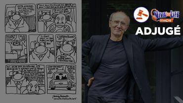 Enchère: une planche du Chat de Philippe Geluck dédicacée est partie pour 6000 euros!