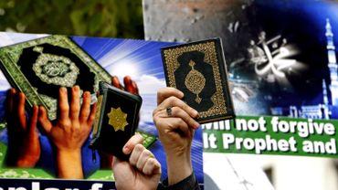 Protestaions en Turquie, le 4 avril 2008, après la sortie du film néerlandais islamophobe 'Fitna'