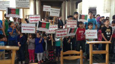 Une semaine d'action de sans-papiers afghans à l'églis du Béguinage