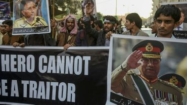 Manifestation en faveur de Pervez Musharraf en 2019