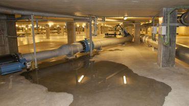 La station d'épuration Nord où une partie des eaux usées bruxelloises sont traitées.