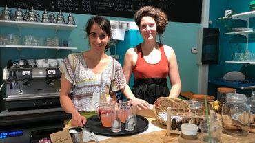"""Les jeunes femmes de """"Papote Café"""" pleines d'enthousiasme et de bonnes idées."""