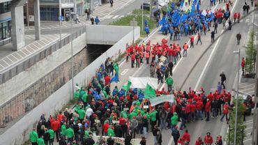 On annonce entre 30 et 40 000 manifestants dans les rues de Bruxelles.