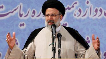 Le religieux Ebrahim Raissi, une figure conservatrice montante au sein du pouvoir iranien, s'est inscrit pour la présidentielle dans l'objectif de battre le président modéré Hassan Rohani, le 14 avril 2017 à Téhéran