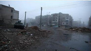 """Syrie, un Belge témoigne: """"Ce que j'ai vu, c'est l'enfer sur Terre"""" - On voit ici un quartier de Homs après un bombardement de l'armée"""