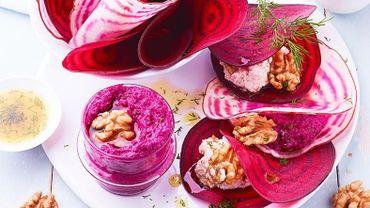 Ravioles de betterave aux noix