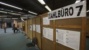 Bureau de vote à Eupen pour la consultation populaire