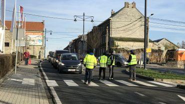 Namur: Opération escargot par une dizaine de gilets jaunes à Bouge