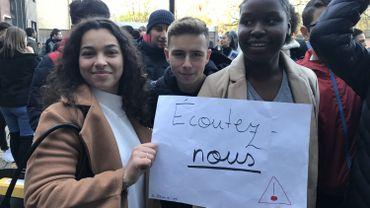 L'appel des élèves de l'Institut Marie Immaculée, à Anderlecht.