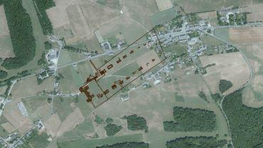 La villa romaine d'Anthée, 2000 ans plus tard elle marque toujours le cadastre