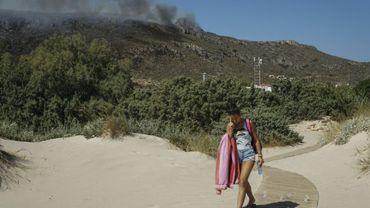 Un incendie de forêt sur l'île grecque d'Elafonissos, le 10 août 2019
