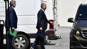 Carsten Spohr, patron de Lufthansa, quittant le 16 rue de la loi