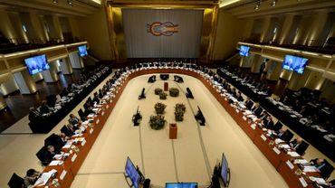 Une vue générale de la réunion des ministres des Finances du G20 le 13 mars 2017 à Baden-Baden (ouest)