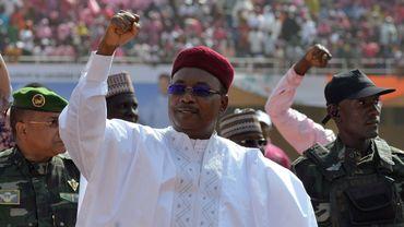 Le président nigérien sortant Mahamadou Issoufou, à Niamey, le 18 février 2016.
