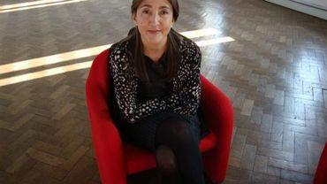 Ingrid Betancourt pose pour nous à la Foire du livre