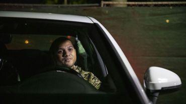 Cameron Jones, 26 ans, un ancien Marine, s'apprête à passer la nuit dans sa voiture sur un parking sécurisé de Los Angeles, le 11 février 2019