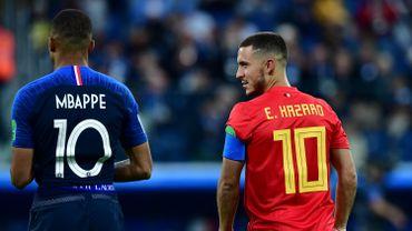 Kylian Mbappé et Eden Hazard