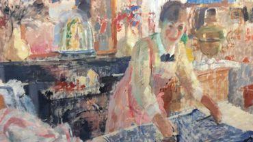 La Repasseuse,( 1912), huile sur toile, 108,5 x 124,8 x 2,2 cm, Anvers, Koninklijk Museum voor  Schone Kunsten Antwerpen, inv. 1932
