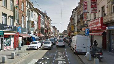 L'accident s'est produit à la rue Wayez (principale rue commerçante d'Anderlecht)