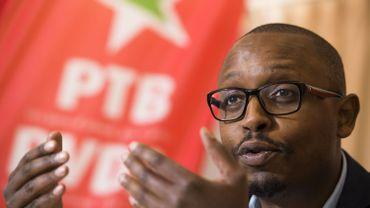 """Germain Mugemangango, porte-parole du PTB:""""On nous annonce une tornade éthique mais cela ressemble plus à une brise. Le gouvernement aurait pu souffler beaucoup plus fort»."""