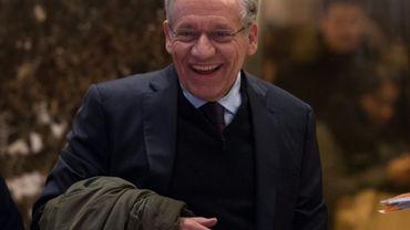 Bob Woodward le 3 janvier 2017 à son arrivée à la Trump Tower, à New York, pour rencontrer le président Donald Trump
