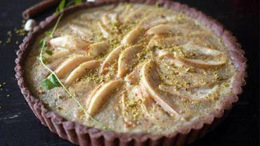 Recette de Candice : Tarte poire – nougat – pistaches