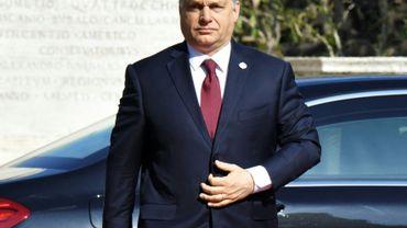 Le Premier ministre hongrois Victor Orban, le 25 mars 2017 à Rome