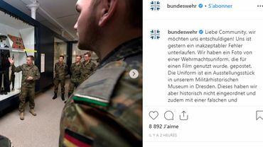 L'armée allemande poste une photo d'uniforme nazi puis s'excuse